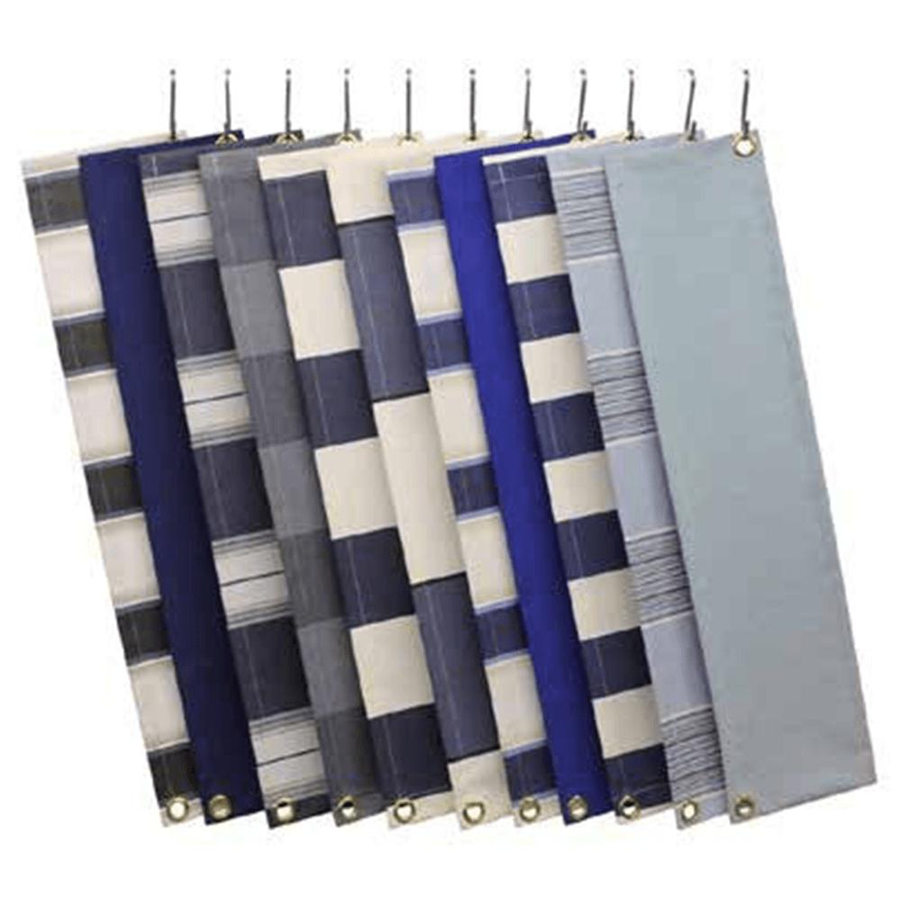 Zon Zonwering Oldenzaal - kleuren en soorten doek - blauw tinten