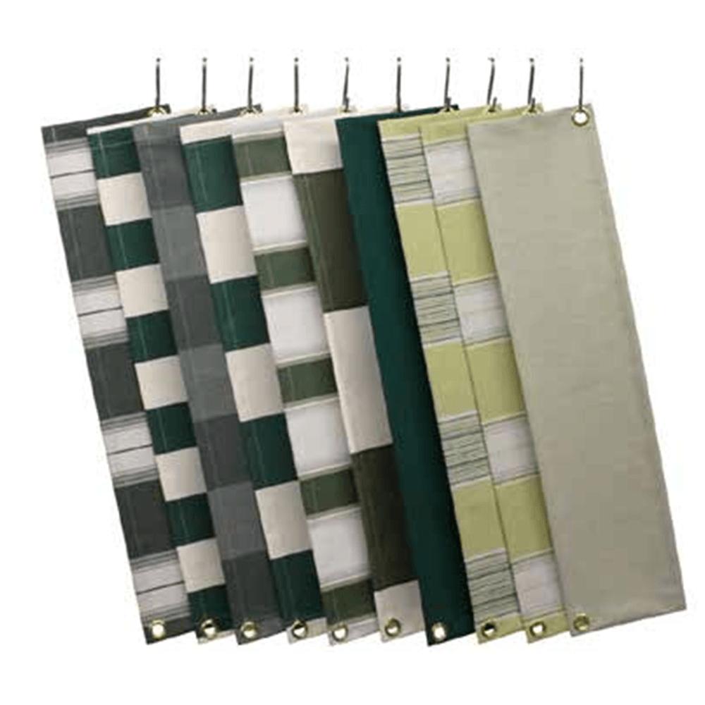 Zon Zonwering Oldenzaal - kleuren en soorten doek - groen tinten