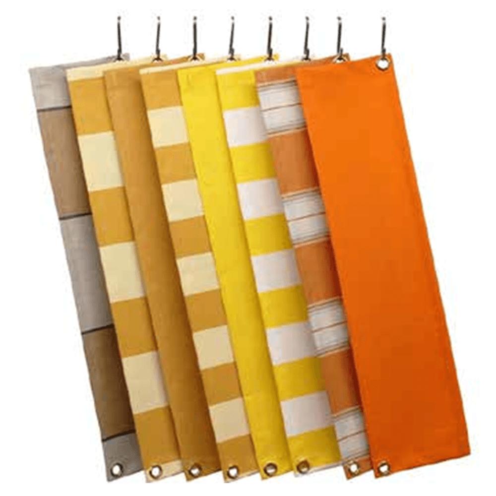 Zon Zonwering Oldenzaal - kleuren en soorten doek - oranje en geel tinten